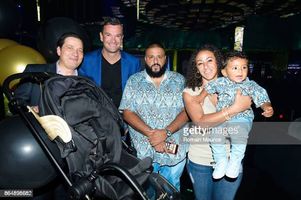 Dj Khaled Nicole Tuck Asahd Khaled attend Tot Living By Haute Living Celebrates Asahd's First Birthday With Cybex on October 21 2017 in Miami Florida