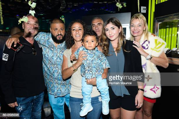 Dj Khaled Nicole Tuck Asahd Khaled Lori Alf Attend Tot Living By Haute Living Celebrates Asahd's First Birthday With Cybex on October 21 2017 in...