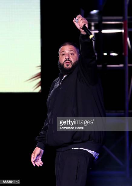 Dj Khaled performs onstage during the AHF World AIDS DAY Concert and 30th Anniversary Celebration featuring Mariah Carey and DJ Khaled at the Shrine...