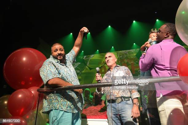 Dj Khaled Show Special Franck Muller Watch with Puff Daddy Tot Living By Haute Living Celebrates Asahd's First Birthday With Cybex on October 21 2017...