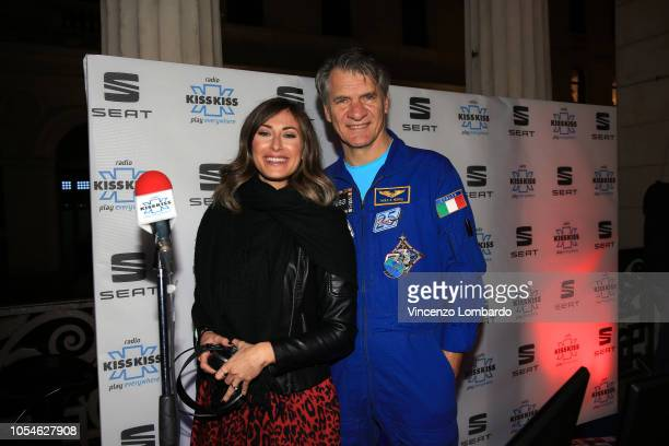 Dj Kiss Kiss Radio and Astronaut Paolo Nespoli attends Open Innovation Days SEAT, Padova, 27 Ottobre 2018 on October 27, 2018 in Padova, Italy.