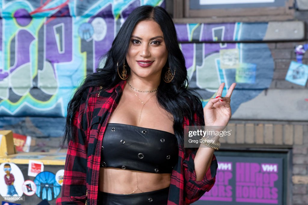 Dj Michelle Pooch arrives for VH1's Hip Hop Honors: The 90's Game Changers at Paramount Studios on September 17, 2017 in Hollywood, California.