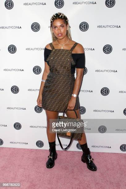 Dj Millie attends the Beautycon Festival LA 2018 at the Los Angeles Convention Center on July 14 2018 in Los Angeles California