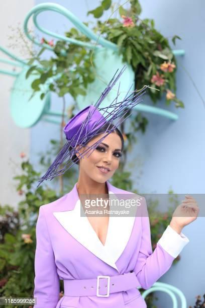 Dj Perri Lee attends Oaks Day at Flemington Racecourse on November 07, 2019 in Melbourne, Australia.