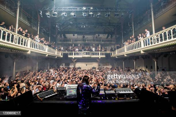 Dj Reinier Zonneveld performs in Paradiso venue that has reopened at full capacity in Amsterdam on June 26, 2021. - Netherlands OUT / Netherlands OUT