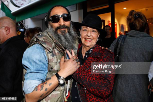 Dj Senay Gueler and Baerbel Wierichs during the Natascha Ochsenknecht vernissage at Art Gallery Z on May 15 2017 in Berlin Germany It's the first...