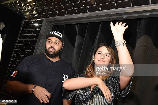 Dj SirYll and Charlotte Namura attend Charlotte Namura and Clio Pajczer DJ Party at La Gioia in VIP Room Theater on November 30 2016 in Paris France