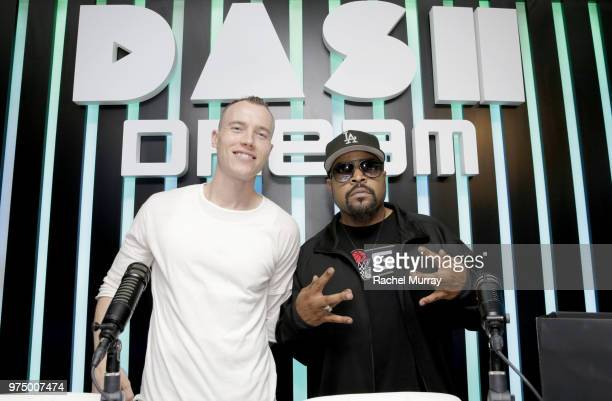 Dj Skee and Ice Cube attend the Dream Hollywood x Dash radio launch Music Pop-Up on June 14, 2018 in Los Angeles, California.
