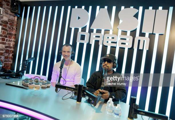 Dj Skee and Ice Cube during the Dream Hollywood x Dash radio launch Music Pop-Up on June 14, 2018 in Los Angeles, California.