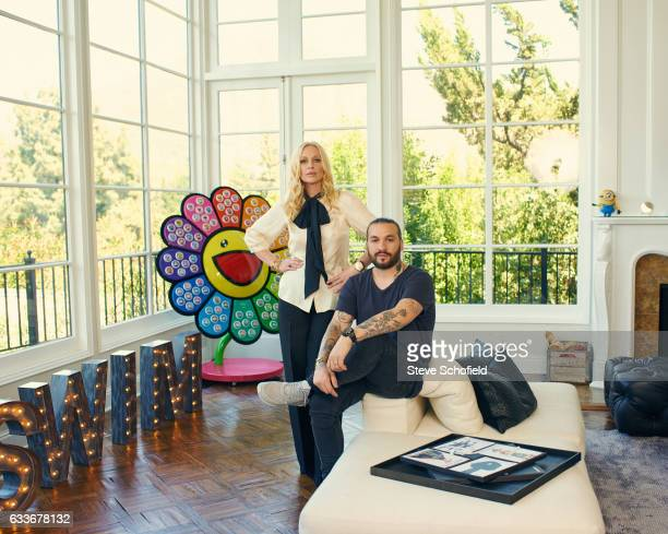 Dj Steve Angello and is wife Isabel Adrian are photographed at their home for ES magazine on April 7 2014 in Los Angeles California