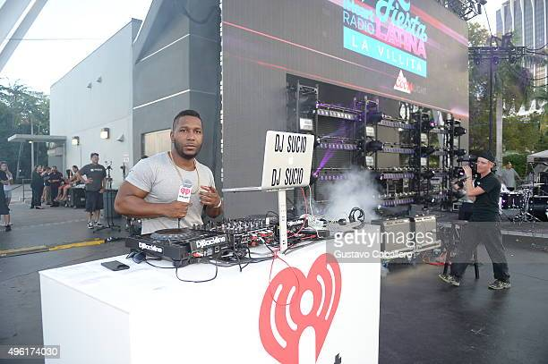 Dj Sucio performs onstage at the iHeartRadio Fiesta Latina preshow presented by Sprint at Bayfront Park Amphitheater on November 7 2015 in Miami...