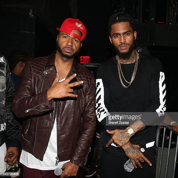 Dj SussOne and Dave East attneds the XXL Freshman Tour at Best Buy Theater on June 29 2016 in New York City