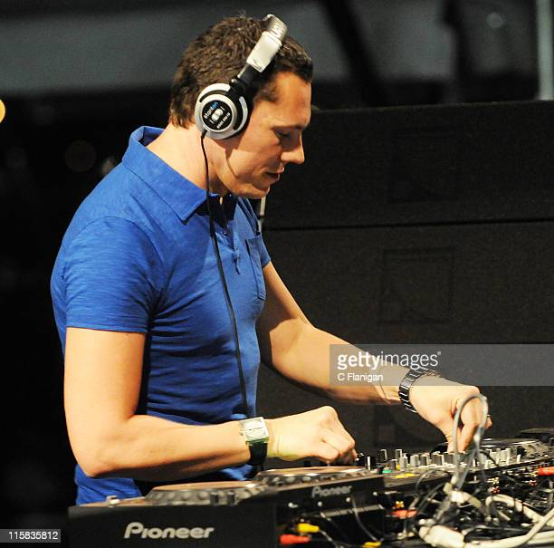 Dj Tiesto performs live at the 10th Annual Ultra Music Festival at The Bicentennial Park on March 28 2008 in Miami Florida