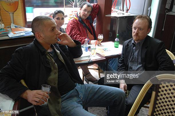 Djamel Bouras MoDem candidate with legislatives in SeineSaintDenis France on May 30 2007 In the cafeteria of Saint Denis On the right Philippe...
