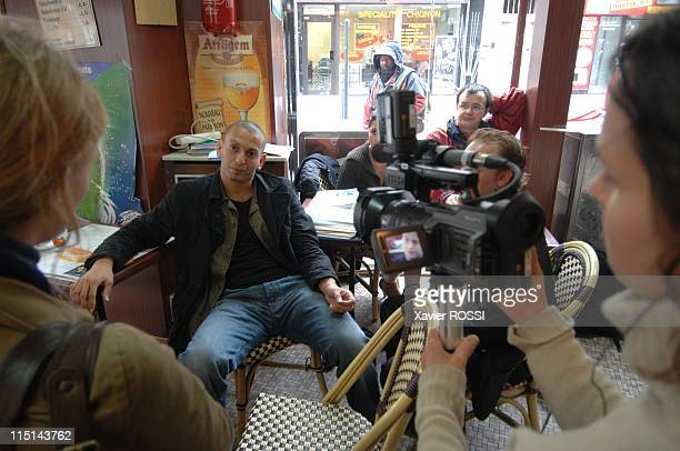 Djamel Bouras MoDem candidate with legislatives in SeineSaintDenis France on May 30 2007 In a cafeteria of Saint Denis