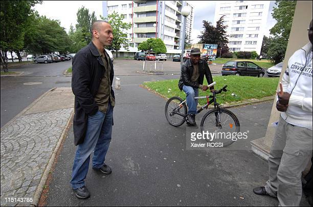 Djamel Bouras MoDem candidate with legislatives in SeineSaintDenis France on May 30 2007 In a quarter of villetaneuse