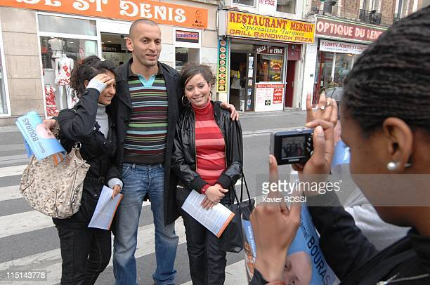 Djamel Bouras MoDem candidate with legislatives in SeineSaintDenis France on May 30 2007 In the streets of Saint Denis