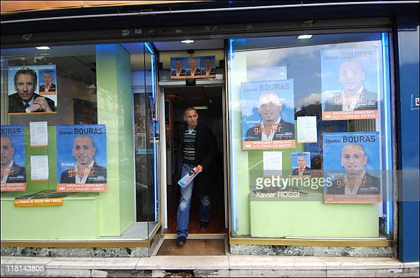 Djamel Bouras MoDem candidate with legislatives in SeineSaintDenis France on May 30 2007 In the interior of his permanence in Saint Denis