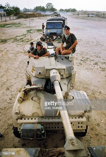 N'Djamena CHAD A picture taken 26 September 1984 shows French soldiers at the Biltine camp in N'Djamena Chadian rebels from the Union of Forces for...