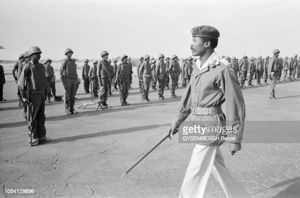 N'Djamena Tchad novembre 1981 Dans une annonce surprise le colonel Kadhafi a ordonné aux troupes libyennes stationnées au Tchad de quitter...