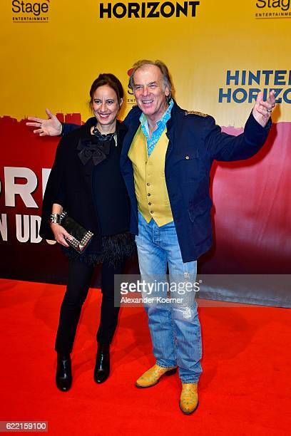 Djamila Mendil and Wolfgang Fierek attends the red carpet at the Hinterm Horizont Musical premiere at Stage Operretenhaus on November 10 2016 in...
