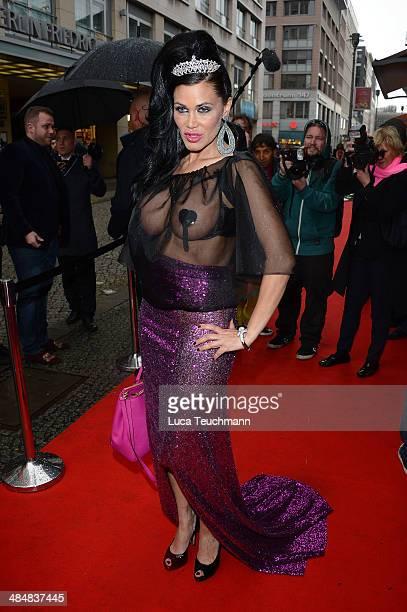 Djamila Rowe attends the Harald Gloeoeckler Store Opening on April 14 2014 in Berlin Germany