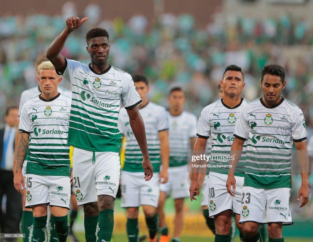 Santos Laguna v Pumas UNAM - Torneo Clausura 2018 Liga MX : News Photo