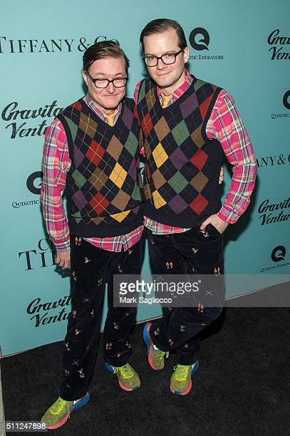 Designers AndrewAndrew attend the 'Crazy About Tiffany's' Premiere at the American Museum of Natural History on February 18 2016 in New York City