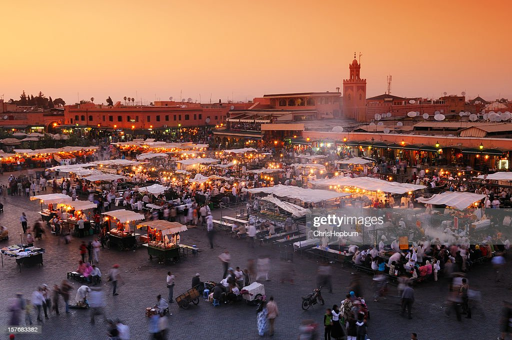 Djemaa El Fna, Marrakech, Morocco : Stock Photo