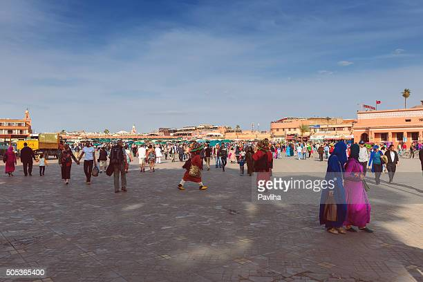 djemaa el fna,marrakesh, spring,morocco,north africa - pavliha stock photos and pictures