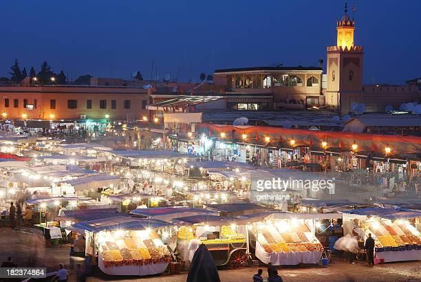 Djemma El Fna Market Square at Night