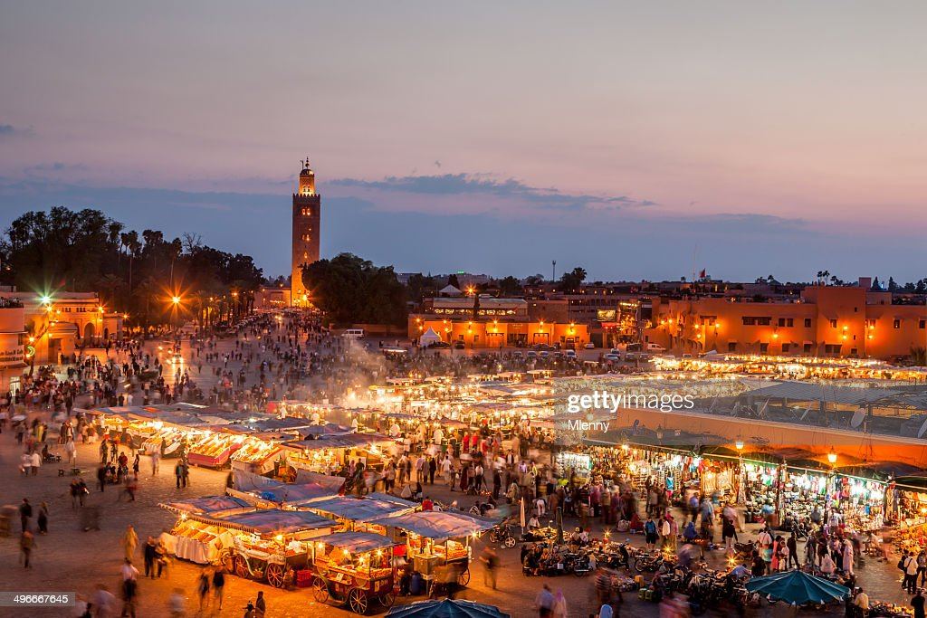 Djemma El Fna Marrakech by Night : Stock Photo