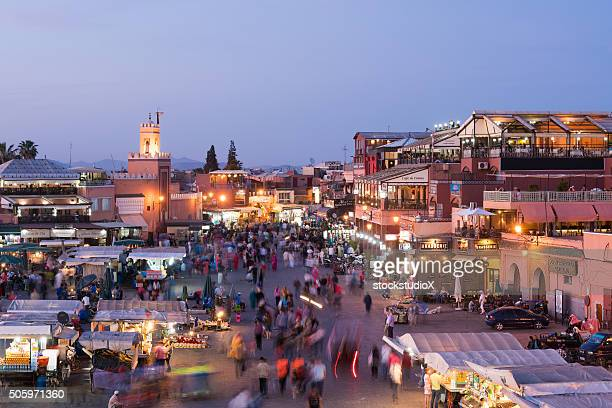 Djemma El Fna Square in Marrakesh at dusk