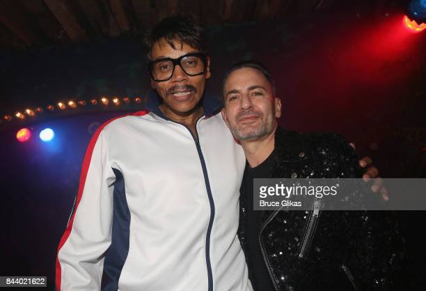 Host Rupaul and Host/Designer Marc Jacobs pose at the 'Fashion Does Drag Ball' Fashion Week celebration at The McKittrick Hotel on September 7 2017...