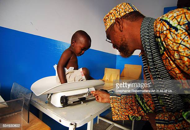 Djibouti Ali Sabieh doctor weighting baby on scale