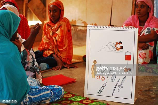 Djibouti Djibouti city women listening at sexual female genital mutiliation information session organized by the UNICEF