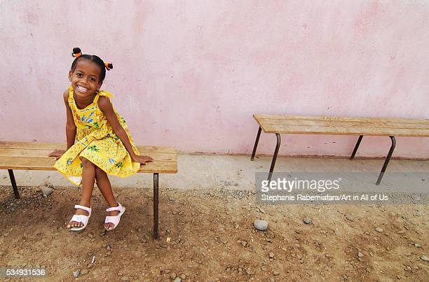 Djibouti Djibouti city young african girl with yellow dress posing