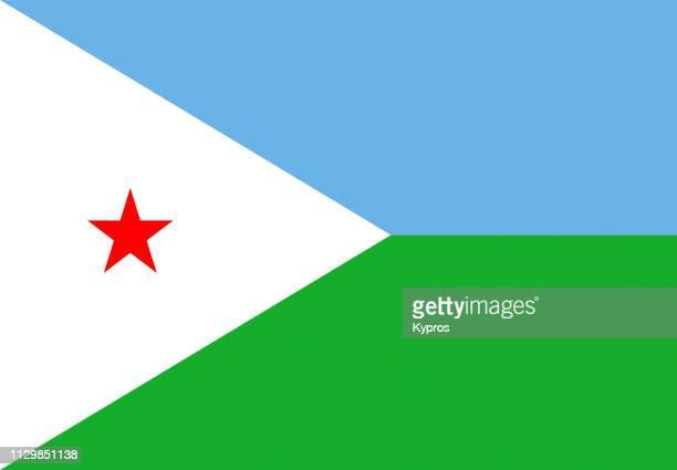 djibouti flag - djibouti stock pictures, royalty-free photos & images