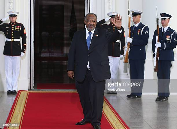 Djibouti President Ismail Omar Guelleh arrives at the North Portico of the White House for a State Dinner on the occasion of the US Africa Leaders...