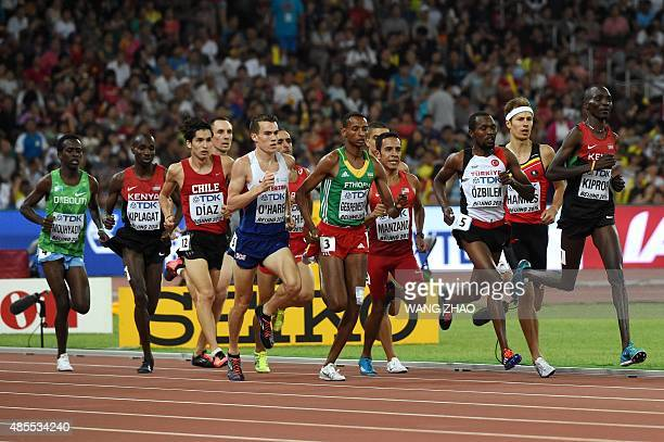 Djibouti's Abdi Waiss Mouhyadin Kenya's Silas Kiplagat Chile's Carlos Diaz Britain's Chris O'Hare Ethiopia's Mekonnen Gebremedhin USA's Leonel...