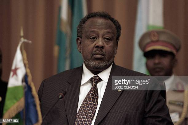 Djibouti's President Ismail Omar Guelleh attends the summit of the sixnation east Africa Intergovernmental Authority on Development group on June 14...