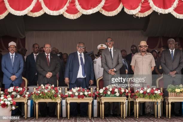 Djibouti's President Ismail Omar Guelleh Ethiopia's Prime Minister Abiy Ahmed Rwanda's President Paul Kagame Sudan's President Omar alBashir...
