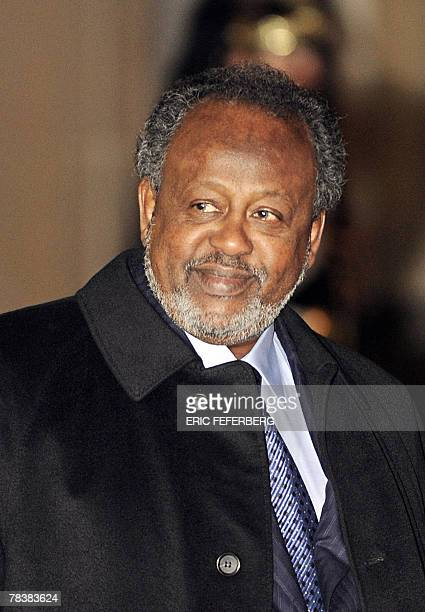 Djibouti's President Ismail Omar Guelleh leaves the Elysee Palace after a meeting with his French counterpart Nicolas Sarkozy 11 December 2007 in...