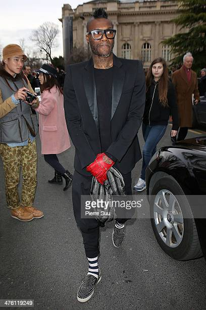 Djibril Cisse attends the Chloe show as part of the Paris Fashion Week Womenswear Fall/Winter 20142015 on March 2 2014 in Paris France