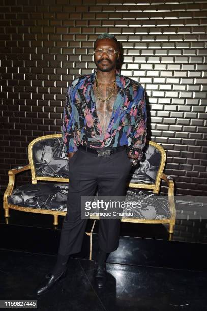 Djibril Cisse attends the Jean Paul Gaultier Haute Couture Fall/Winter 2019 2020 show as part of Paris Fashion Week on July 03 2019 in Paris France