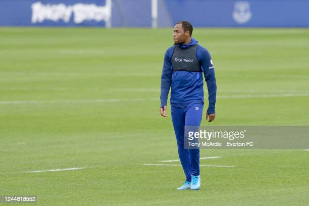 Djibril Sidibe during the Everton training session at USM Finch Farm on June 3 2020 in Halewood England