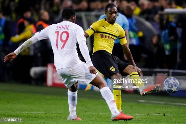 Djibril Sidibe of AS Monaco Abdou Diallo of Borussia Dortmund during the UEFA Champions League match between Borussia Dortmund v AS Monaco at the...