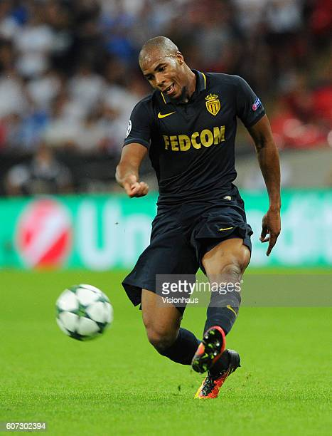 Djibril Sidibe of AS Monaco during the UEFA Champions League match between Tottenham Hotspur FC and AS Monaco FC at Wembley Stadium on September 14...