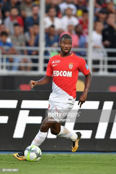 Djibril Sidibe of AS Monaco in action during the French Trophy of Champions football match between Monaco and Paris SaintGermain at the Grand Stade...