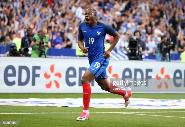 Djibril Sidibe of England celebrates his goal during the international friendly match between France and Englan at Stade de France on June 13, 2017...